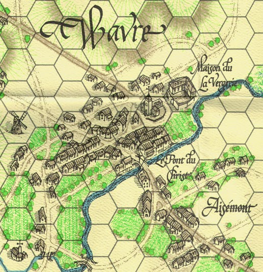 Map from La Bataille de Wavre published by Clash of Arms