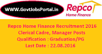 Repco Home Finance Recruitment 2016