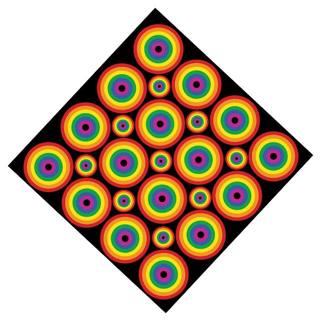 Gay Pride - Rhombus Rainbow Pattern of Pride