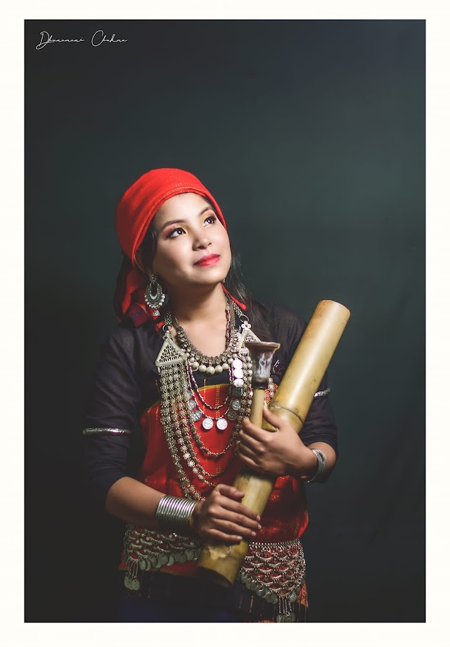 "Chakma Girl with ""DABA"""