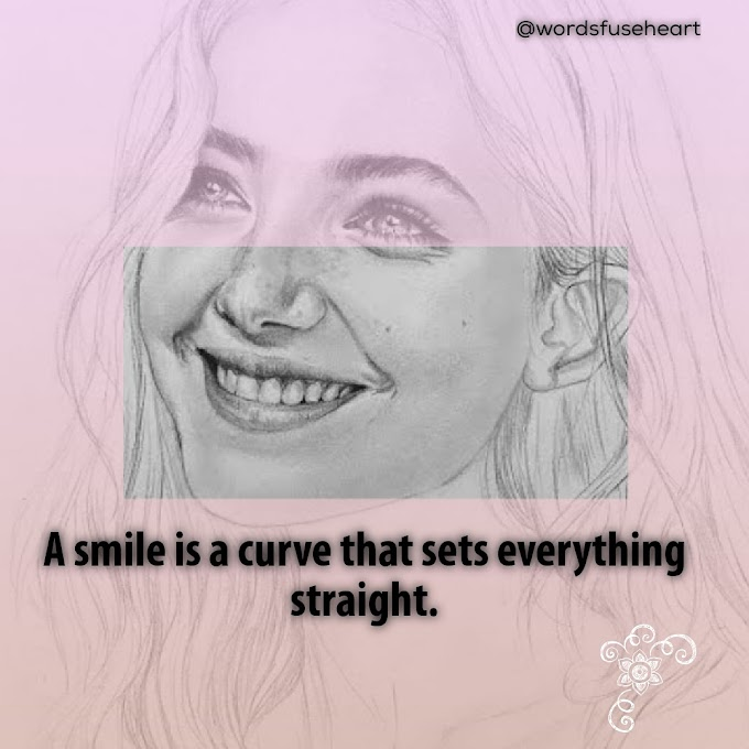 Motivational quote about smile