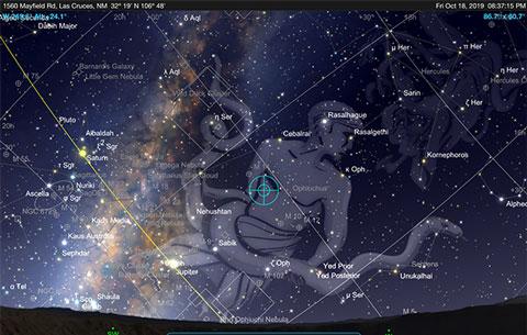 Sky Safari Pro Screenshot with Milky Way (Source: Palmia Observatory)