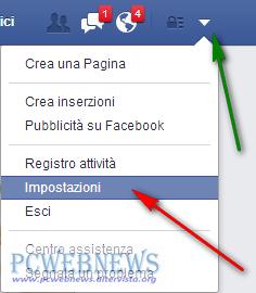 Disattivare o cancellare il tuo account FaceBook