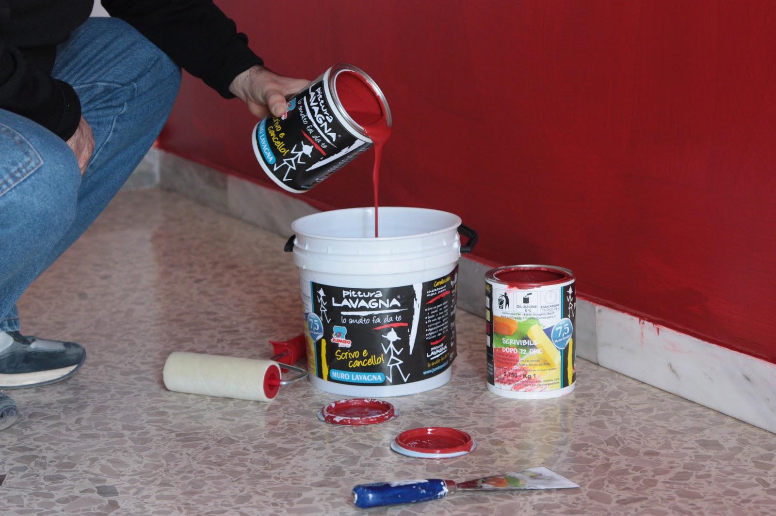 Vernice Lavagna Magnetica Colorata pittura lavagna: il muro di clelia