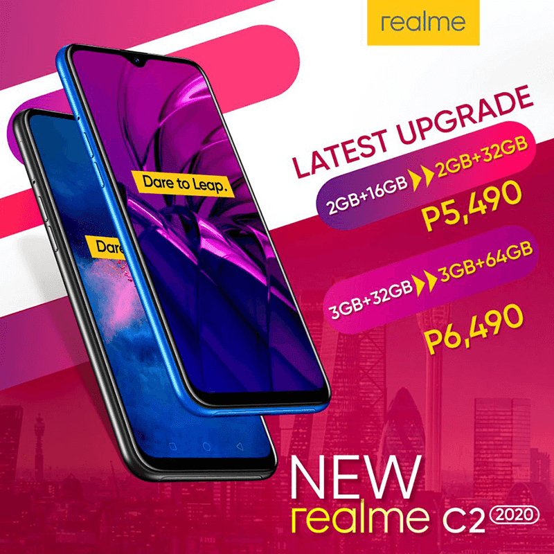Realme C2 2020 arrives in PH with bigger storage!