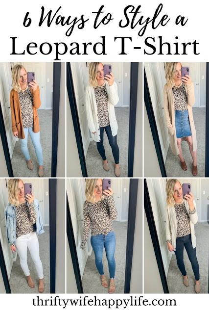 6 ways to style a leopard t-shirt #leopard #leopardtshirt