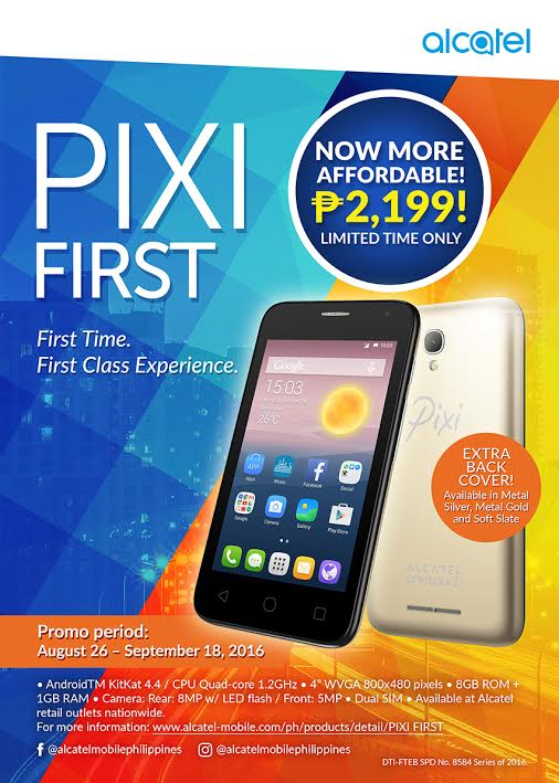 alcatel announces pixi promo and price drop on select devices snapped and scribbled. Black Bedroom Furniture Sets. Home Design Ideas