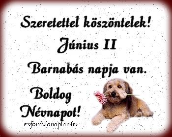 Június 11 - Barnabás névnap