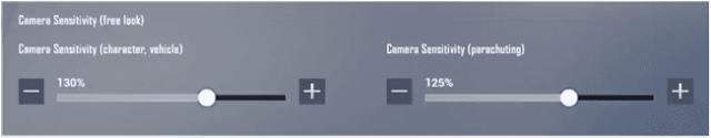 حساسية الكاميرا في لعبة بابجي موبايل لايت