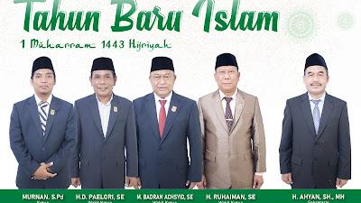 Pimpinan dan Anggota, Beserta Serkretariat DPRD Kabupaten Lombok Timur Mengucapkan Selamat Tahun Baru Islam 1443 Hijriyah