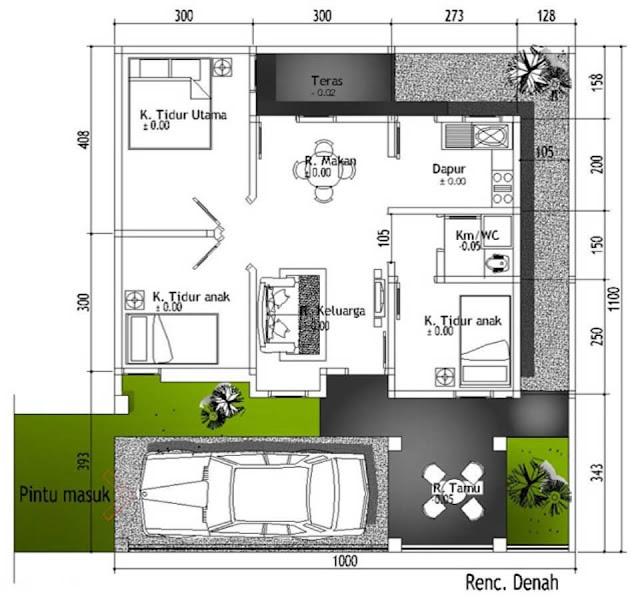 3 Ruangan. Namun, untuk desain rumah yang baik anda perlu melebihkan jumlah ruang kamar tidur tersebut entah dilebihkan sejumlah 1 ruangan saja atau lebih