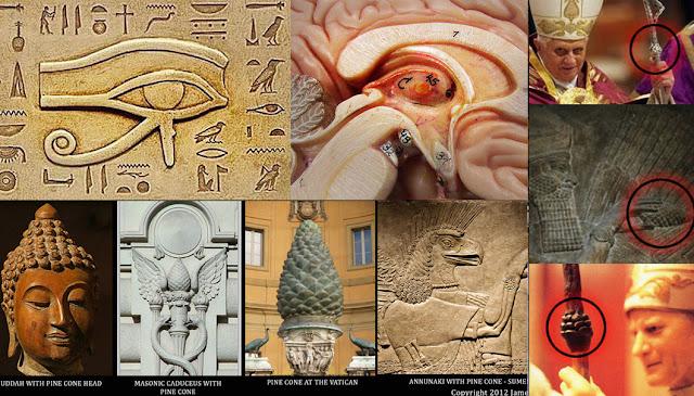 Image result for el ojo que de horus y la pineal