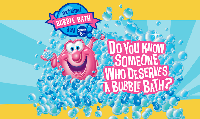 Do you know someone who deserves a bubble bath? Nominate them and you'll be entered to win a year's supply of bubble bath!