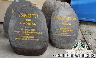 Nisan Batu Kali Dompalan | Nisan Tombstone Batu Alam