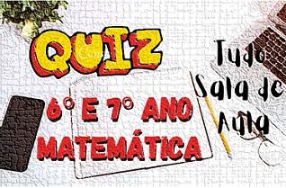Prova online de matemática 6° e 7° ano sobre Fração