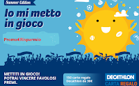 Logo Concorso ''Io mi metto in gioco Summer Edition 2019'': vinci gratis 150 Card Decthlon da 30€