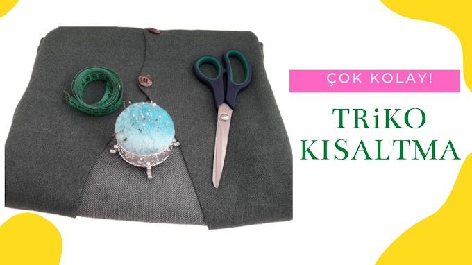 Triko kumaş kısaltma ve kesme | Triko hırka boyu kısaltma - VİDEO