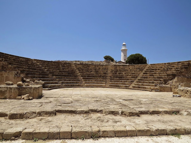 Cyprus Road Trip itinerary: Amphitheatre at Paphos Archaeological Park