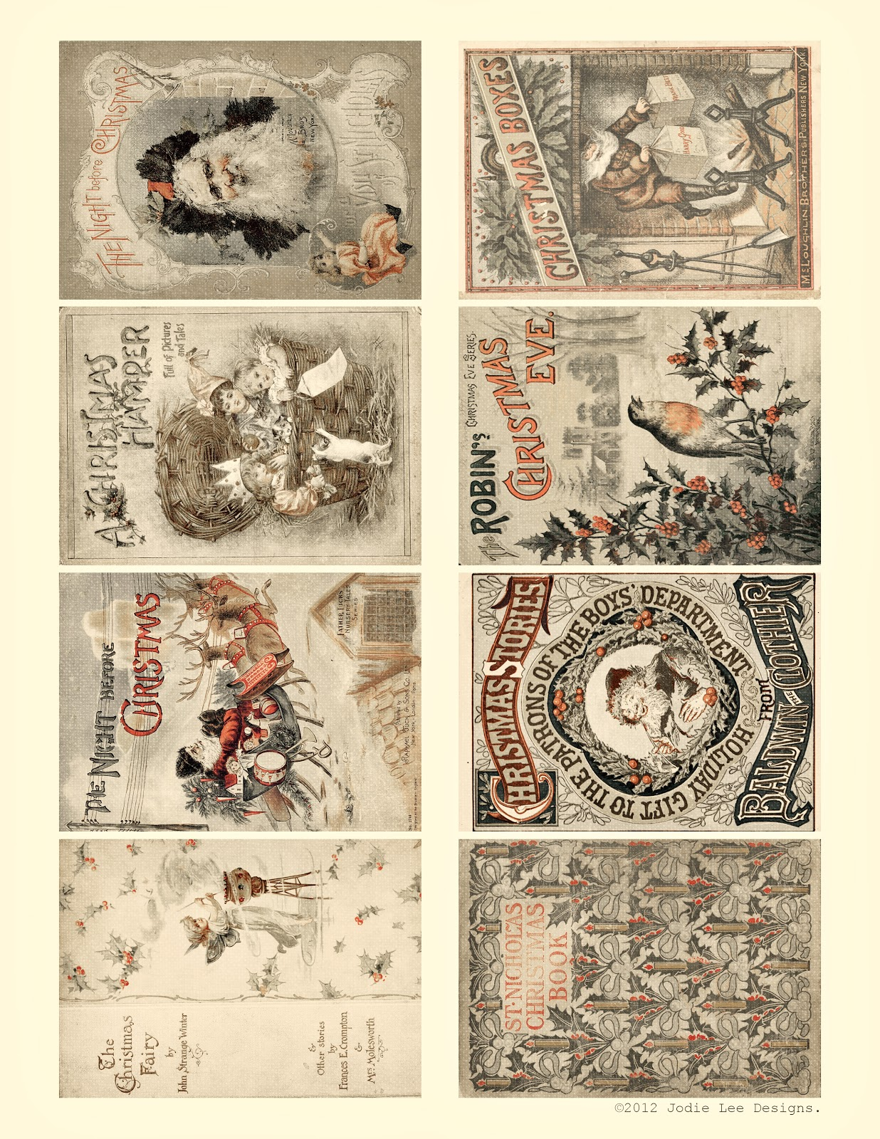 It's just a picture of Massif Vintage Christmas Labels to Print