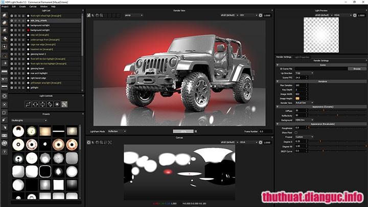 Download HDR Light Studio Carbon 5.9.0 Full Cr@ck – Phần mềm thiết kế chiếu sáng