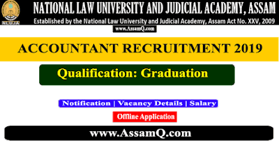National Law University (Assam) Accountant Recruitment 2019