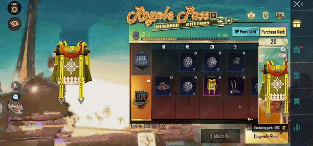 PUBG Mobile Season 19 Royal Pass 1 to 100 RP rewards