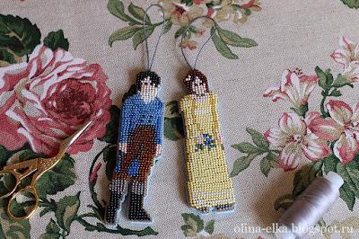 Дарси и Лиззи из бисера