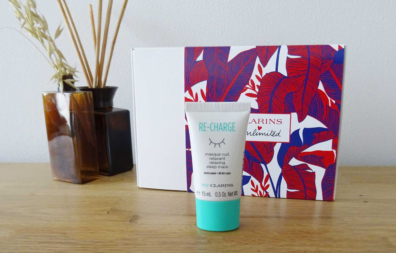 Clarins unlimited my clarins re-charge masque nuit