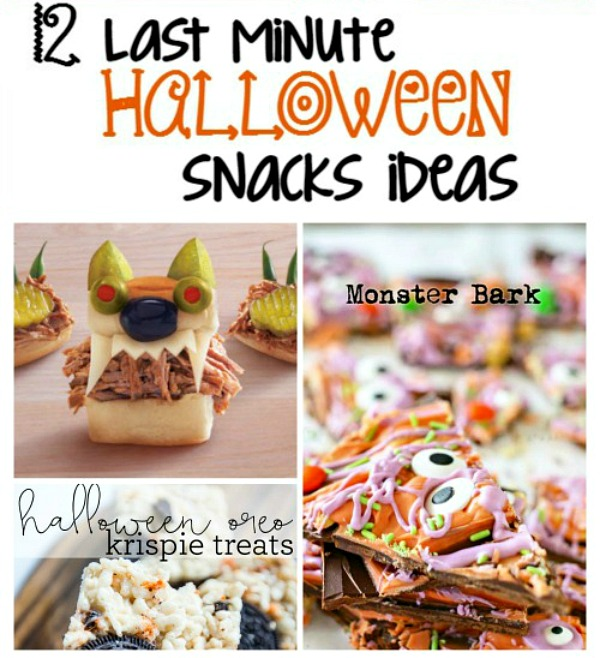 12 Last Minute Halloween Snack Ideas from Second Chance to Dream