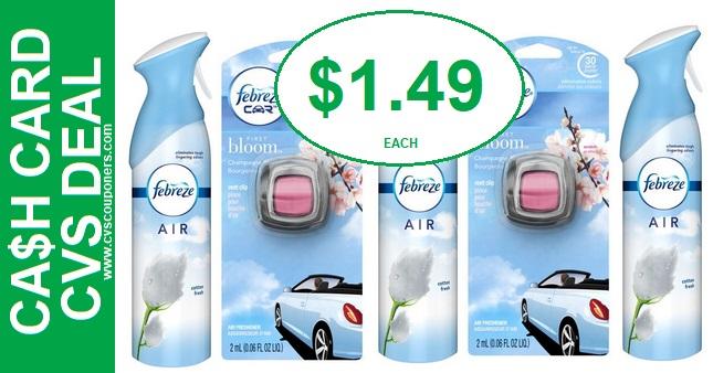 CVS Febreze Air Effects Deal Only $1.49 113-119