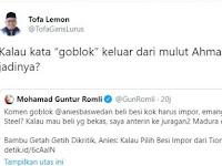 Guntur Romli Sebut Anies Goblok, Tofa Lemon: Jika dari Mulut Ahmad Dhani, Apa Jadinya?