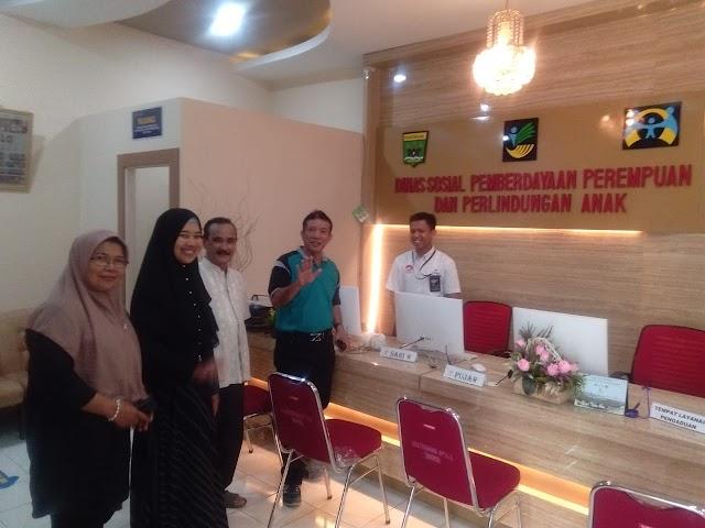 Pererat Silaturahmi dan Berbagi Informasi Dinsos P3A Pesisir Selatan, Kunjungi Dinsos P3A Padang Pariaman