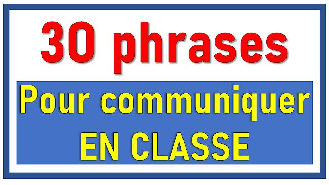 30 phrases pour communiquer en classe