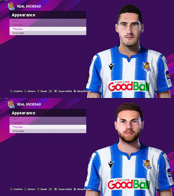 PES 2020 Faces Zadula & Illaramendi by Davidjm08