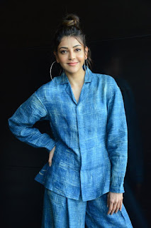Kajal Aggarwal Ranarangam Interview Photos