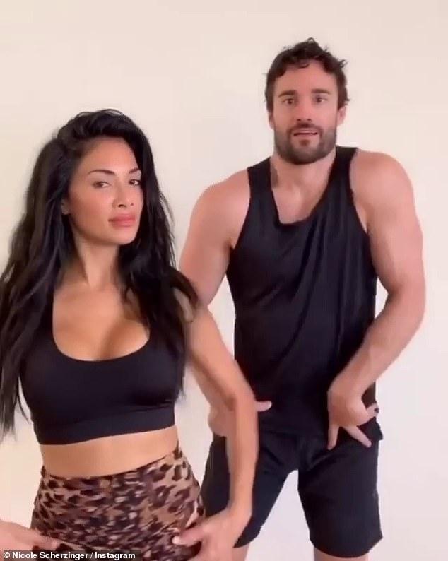 Nicole Scherzinger and beau Thom Evans share energetic TikTok dance video