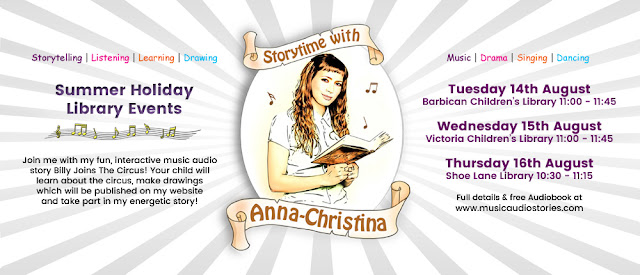 Anna-Christina from Music Audio Stories at London Libraries - Storytime with Anna-Christina