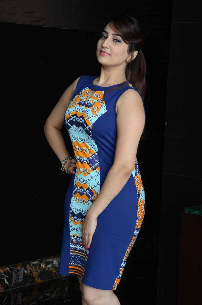 Hot Telugu Tv Anchor Manjusha Legs Show In Blue Mini Skirt At Success Meet