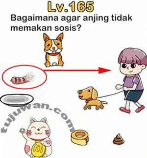 Agar anjing tidak memakan sosis bagaimana? brain out