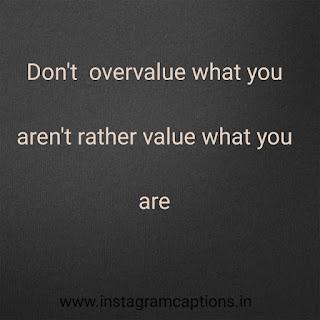 selfie captions about value