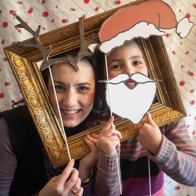 Fotomatón de fiesta navideña
