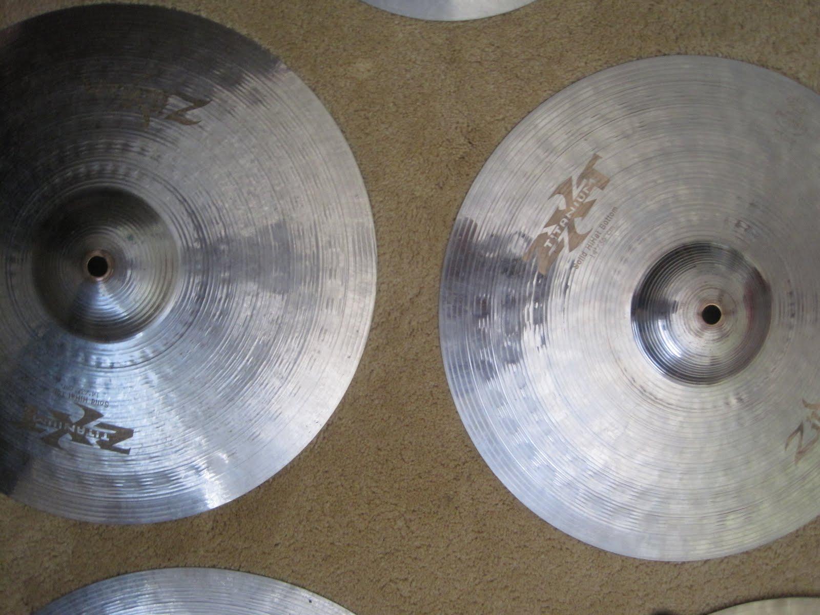 cymbals for sale zildjian zxt titanium hi hats. Black Bedroom Furniture Sets. Home Design Ideas