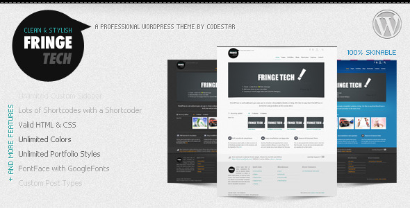 Fringe Tech Wordpress Theme Free Download by ThemeForest.