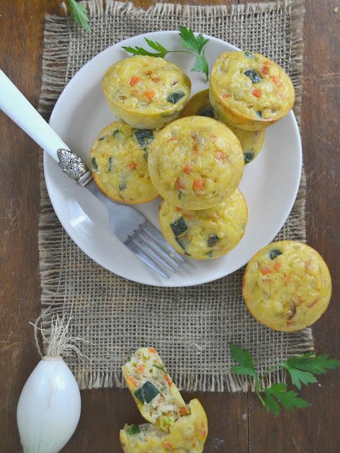 Pastelitos de verduras bizcochitos salados