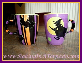Halloween coffee mugs | Picture taken by and property of www.BakingInATornado.com