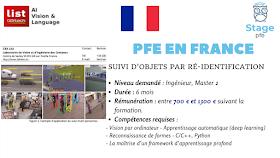 [PFE en France] Suivi d'objets par ré-identification - 6 mois