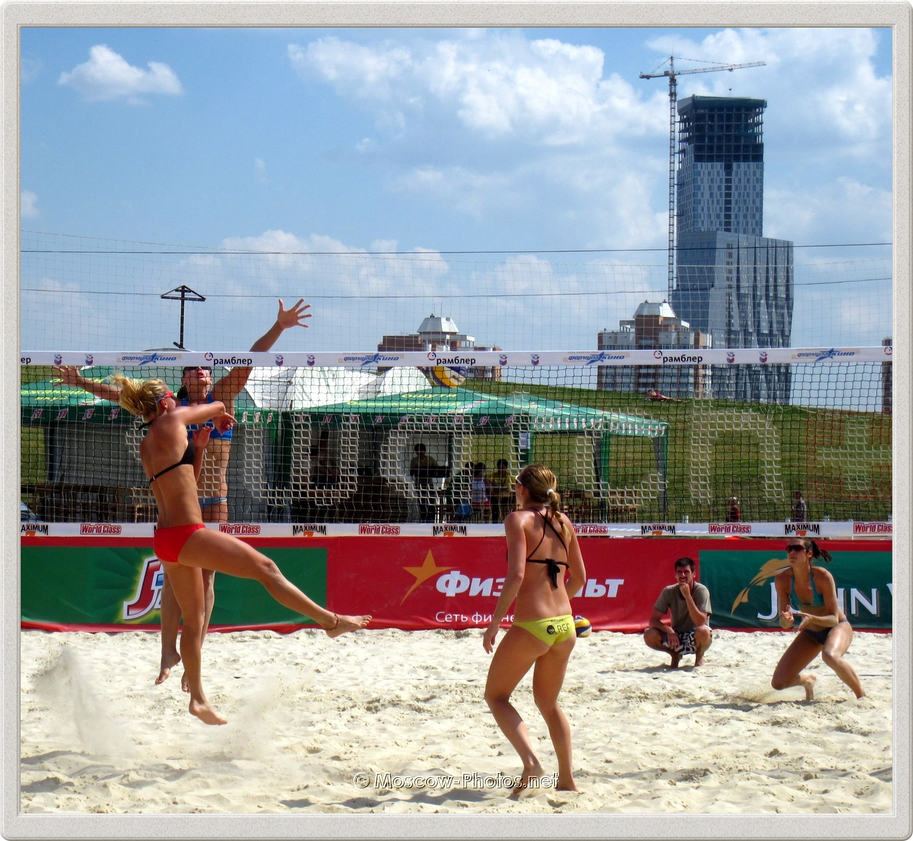 Hard Attack of Marketa Slukova from Czech Beach Volleyball Team