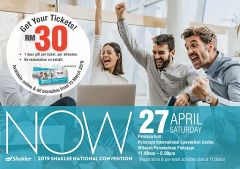 Tiket Shaklee National Convention Sudah Mula Dijual