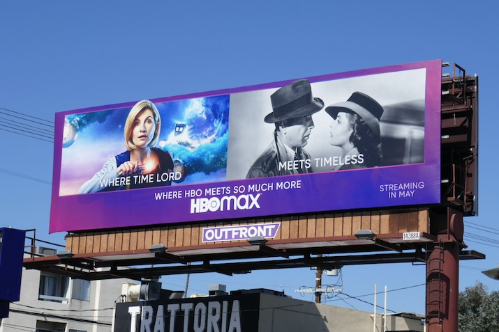 HBO Max Doctor Who billboard