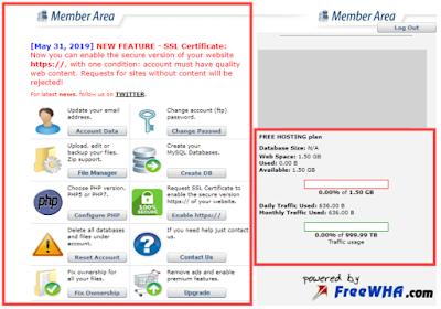 freewebhostingarea cpanel